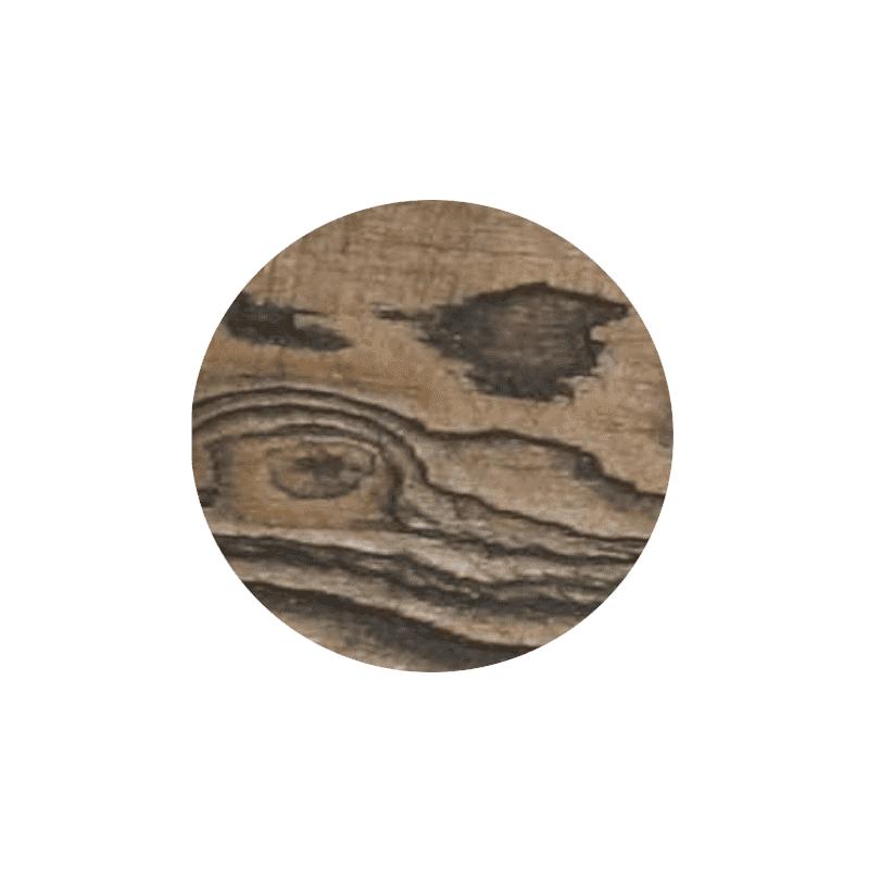 Bespoke woodwash top black and round