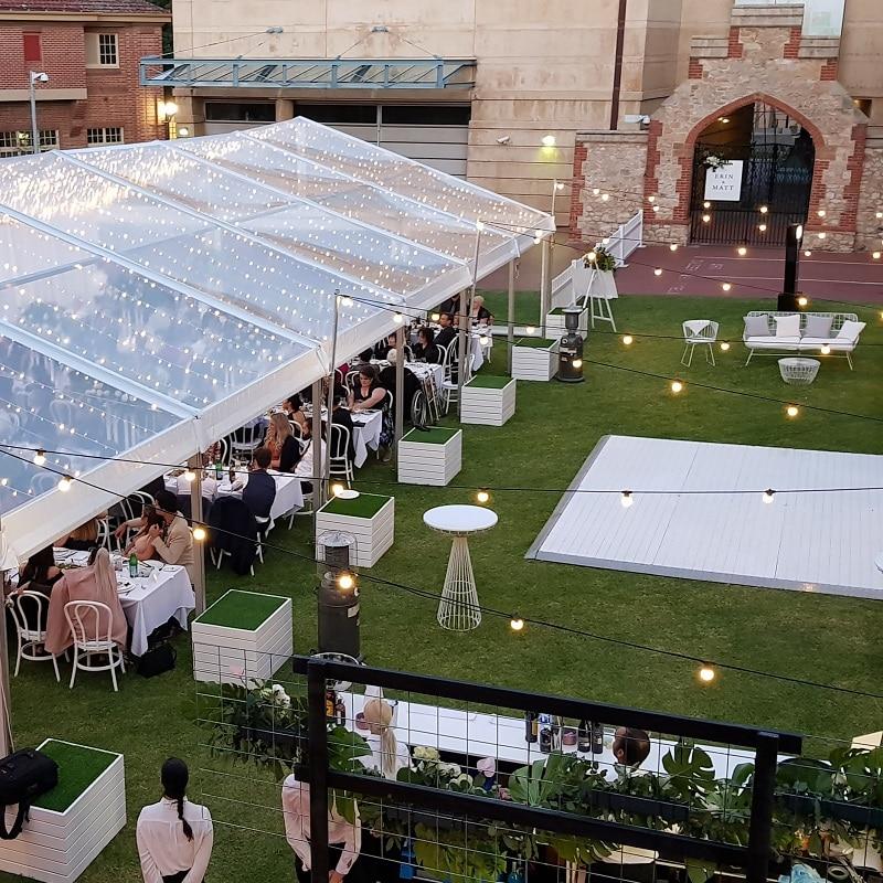 South Australian Museum wedding garden wedding White Dance Floor