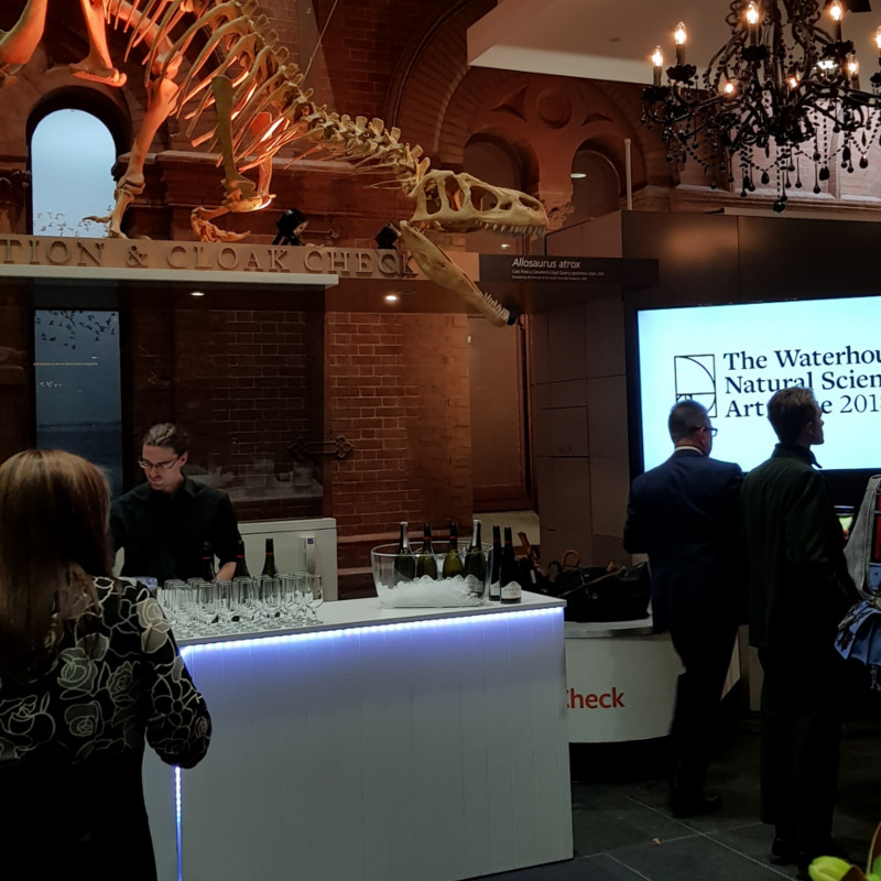 Waterhouse Museum event wedding corporate functions service bar countertop bar