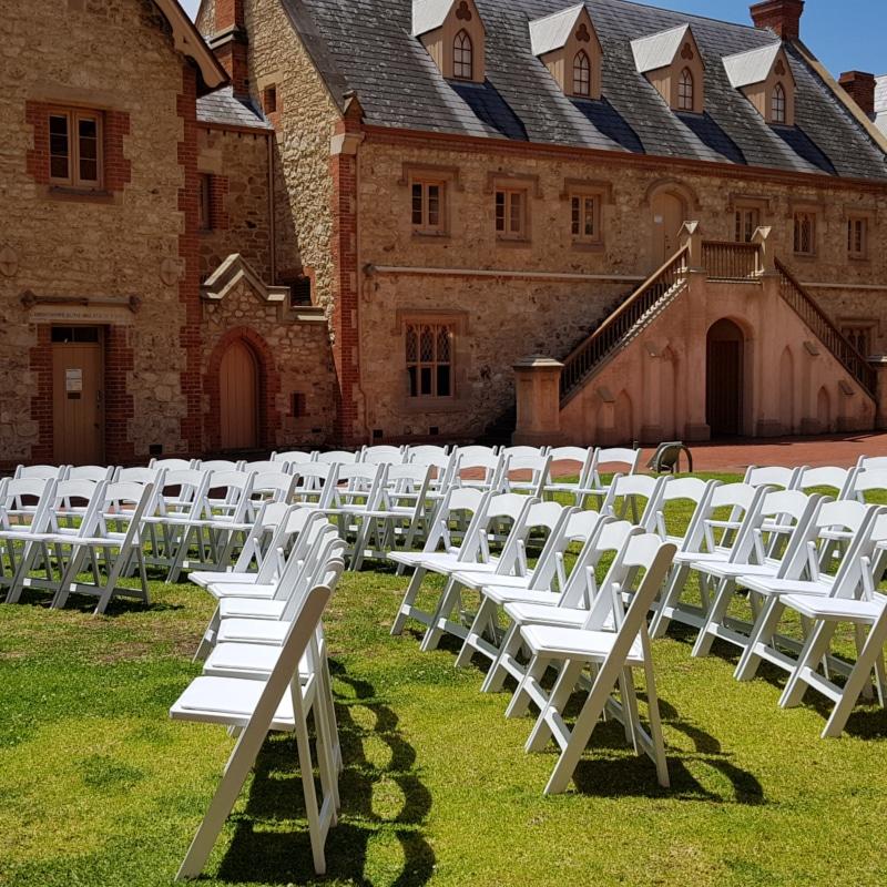 Adelaide americana chairs ceremony