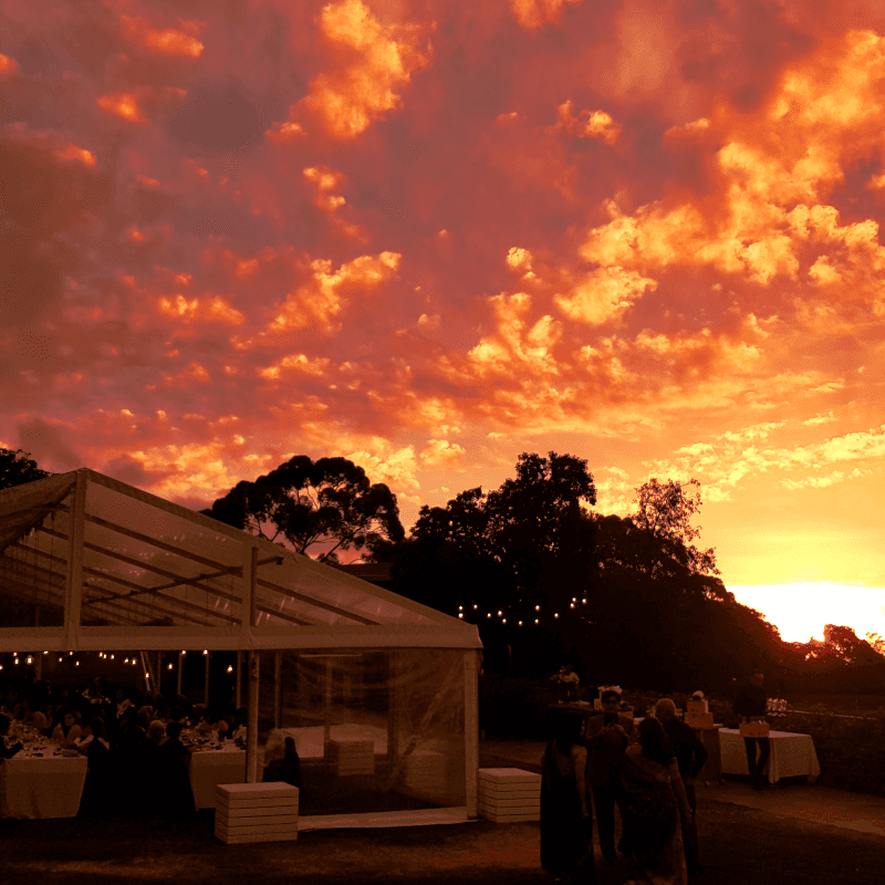 perfect sunset over magill estate for yor wedding